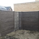 Betonschutting Rots ez Taupe incl Poort